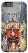 Prague Old Tram 08 IPhone Case by Yuriy  Shevchuk