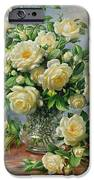 Princess Diana Roses In A Cut Glass Vase IPhone Case by Albert Williams