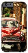 Red Retromobile. Morris Minor IPhone Case by Jenny Rainbow
