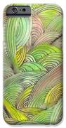 Rolling Patterns In Greens IPhone Case by Wayne Potrafka