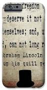 Said Abraham Lincoln IPhone Case by Cinema Photography