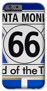 Santa Monica Route 66 Sign IPhone Case by Paul Velgos