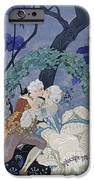 Secret Kiss IPhone Case by Georges Barbier