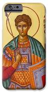 St Demetrios The Great Martyr And Myrrhstreamer IPhone Case by Julia Bridget Hayes