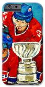 Stanley Cup Win In Sight Playoffs   2010 IPhone Case by Carole Spandau