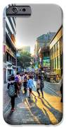 Sunset On The Streets Of Seoul IPhone Case by Michael Garyet