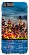 Sunset Over Philadelphia IPhone Case by Louis Dallara