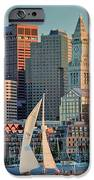 Sunset Sails On Boston Harbor IPhone Case by Susan Cole Kelly