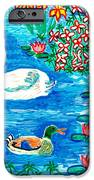 Swan And Duck IPhone Case by Sushila Burgess