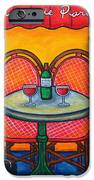 Table For Two In Paris IPhone Case by Lisa  Lorenz