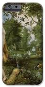 The Garden Of Eden With The Fall Of Man IPhone Case by Jan Brueghel and Rubens