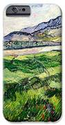 The Green Wheatfield Behind The Asylum IPhone Case by Vincent van Gogh