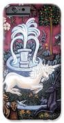 The Unicorn And Garden IPhone Case by Genevieve Esson