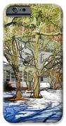 Traditional American Home In Winter IPhone Case by Lanjee Chee