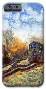 Van Gogh.s Train Station 7d11513 IPhone Case by Wingsdomain Art and Photography