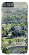 View Of The Tuileries Gardens IPhone Case by Claude Monet