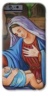 Virgin Mary And Baby Jesus IPhone Case by Gaspar Avila