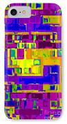 Bold And Colorful Phone Case Artwork City Abstracts By Carole Spandau Cbs Art Exclusives 132  IPhone Case by Carole Spandau