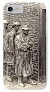 The Bread Line Sculpture IPhone Case by Jack Schultz