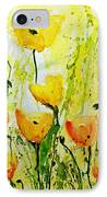Yellow Poppy 2 - Abstract Floral Painting IPhone Case by Ismeta Gruenwald