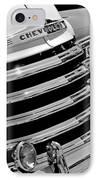 1956 Chevrolet 3100 Pickup Truck Grille Emblem IPhone Case by Jill Reger