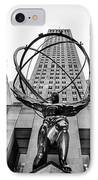 Atlas At The Rock IPhone Case by John Farnan