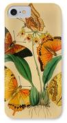 Chinese Butterflies 1847 IPhone Case by Philip Ralley