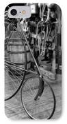 High Wheel 'penny-farthing' Bike IPhone Case by Christine Till