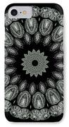 Kaleidoscope Ernst Haeckl Sea Life Series Black And White Set On IPhone Case by Amy Cicconi