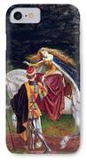 La Belle Dame Sans Merci IPhone Case by Walter Crane