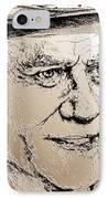 Larry Hagman In 2011 IPhone Case by J McCombie
