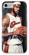 Lebron James IPhone Case by Taylan Apukovska