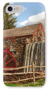Longfellow's Wayside Inn Grist Mill IPhone Case by Jeff Folger