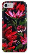 Red Flowers IPhone Case by Shirwan Ahmed