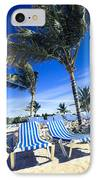 Windy Day At The Beach IPhone Case by Susan Stone