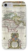 1650 Jansson Map Of The Ancient World IPhone Case by Paul Fearn