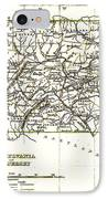 1835 Pennsylvania And New Jersey Map IPhone Case by Bill Cannon