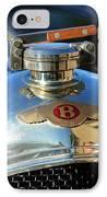 1927 Bentley Hood Ornament IPhone Case by Jill Reger