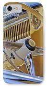 1947 Cadillac 62 Steering Wheel IPhone Case by Jill Reger