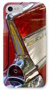 1957 Chevrolet Belair Taillight IPhone Case by Jill Reger