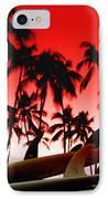 Fins N' Palms IPhone Case by Sean Davey