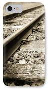 Railway Tracks IPhone Case by Les Cunliffe