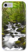 Smoky Mountain Stream IPhone Case by Frozen in Time Fine Art Photography