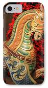 Vintage Carousel Horse IPhone Case by Suzanne Gaff