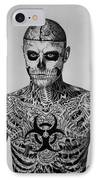Zombie Boy Rick Genest IPhone Case by Carlos Velasquez Art