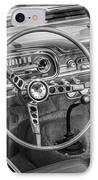 1963 Ford Falcon Sprint Convertible Bw  IPhone Case by Rich Franco