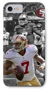 Colin Kaepernick 49ers IPhone Case by Joe Hamilton