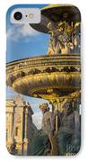 Paris Fountain IPhone Case by Brian Jannsen