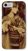Portrait Of Jane Morris IPhone Case by John Parsons