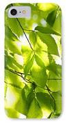 Green Spring Leaves IPhone Case by Elena Elisseeva